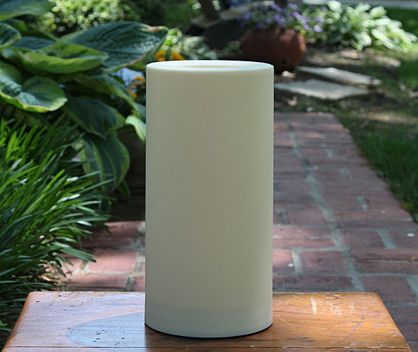 Outdoor 6 x 12 candle impressions cream flameless candle for Large outdoor christmas candles