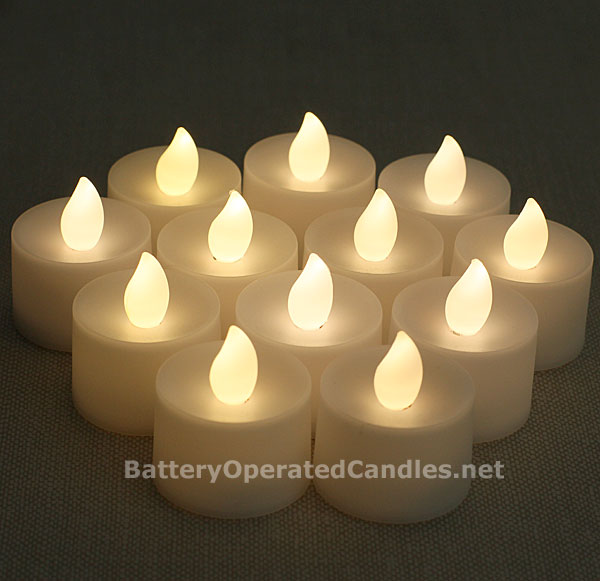 Tall No Flicker Flamless Tea Lights Warm White Led Battery