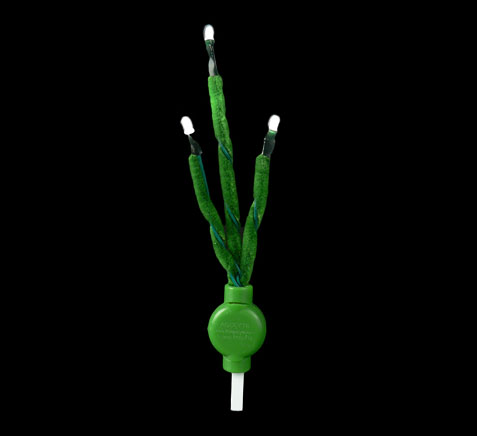 Acolyte C-Lyte 3 Green Chenille Stems with White LED's Set of 6