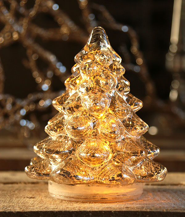 Mercury glass christmas trees images