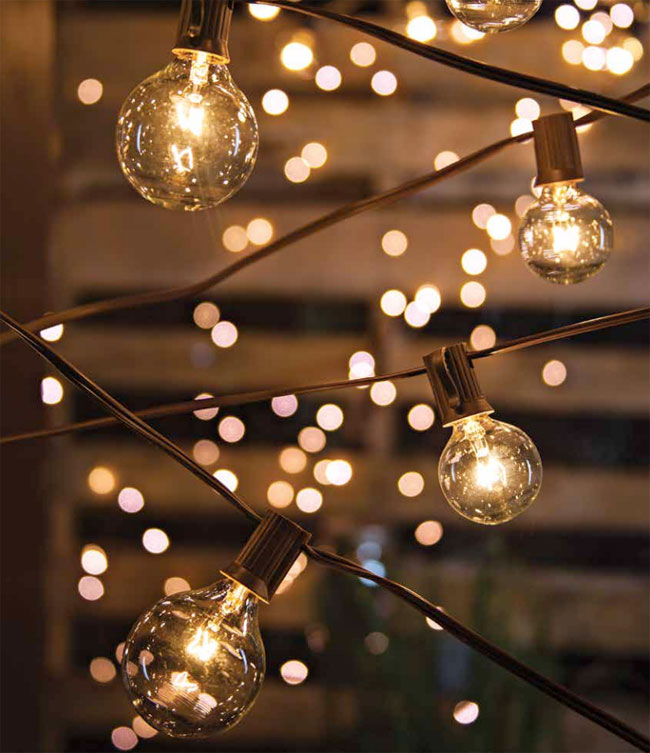 Beau Set Of 20 Bulbs Cafe Style Patio String Lights   20 Feet