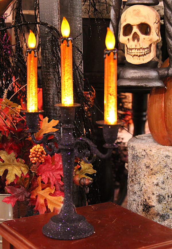 16 Inch Battery Operated Lighted Halloween Candelabra