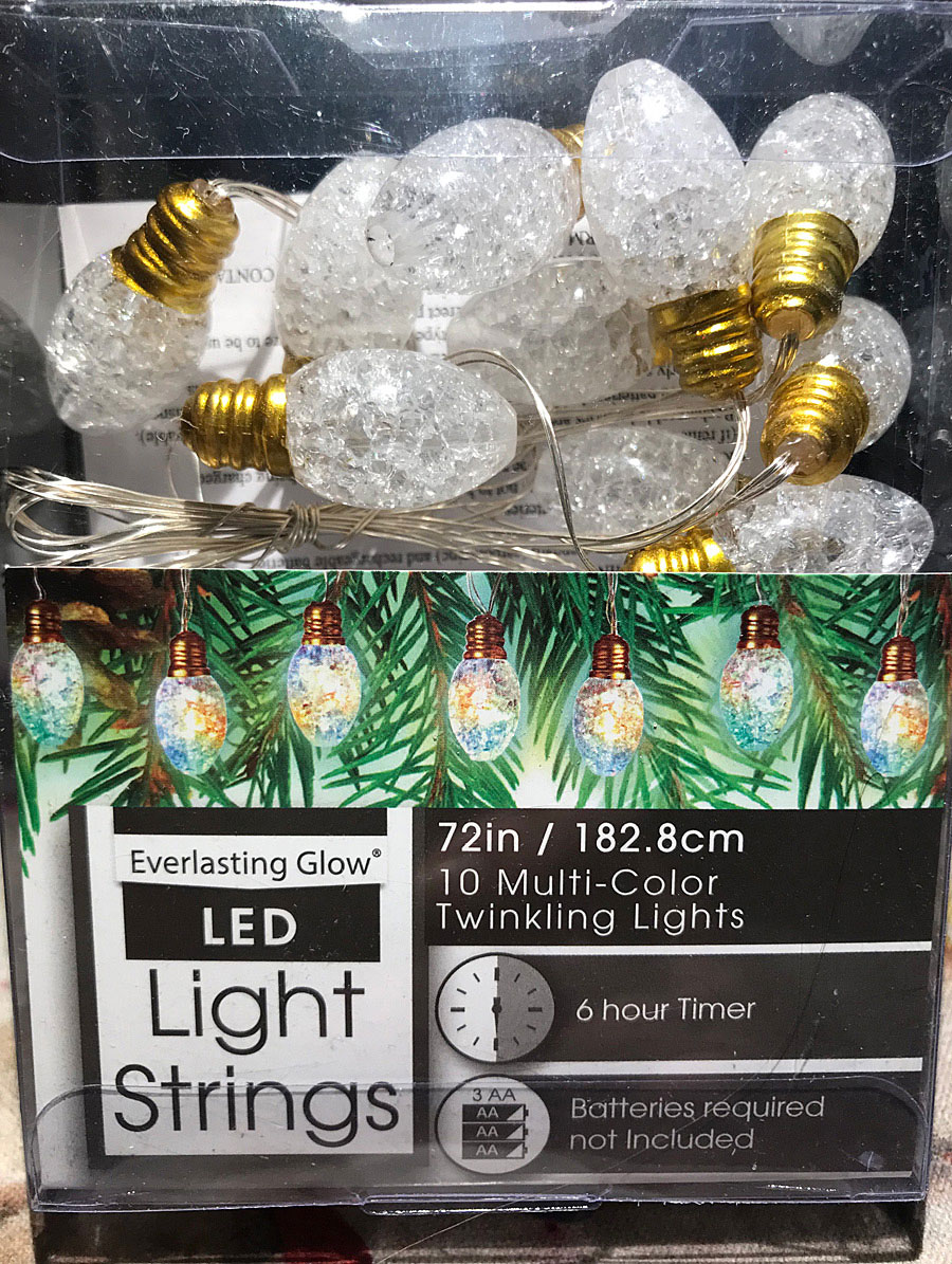 Everlasting Glow Crackle Glass Twinkling Lights 10 Multi