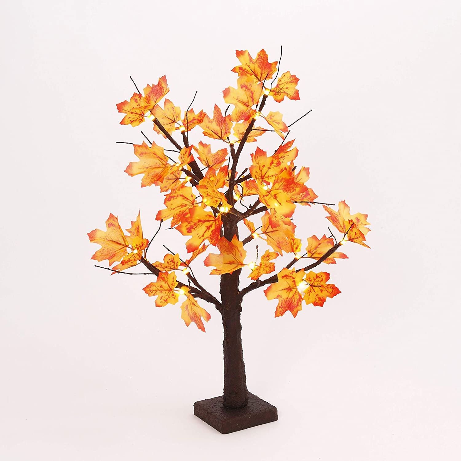 Battery Operated 2 Foot Led Maple Tree 24 Warm White Led S