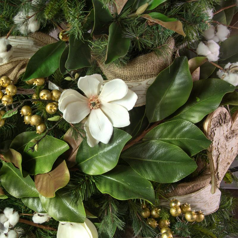 5 Foot Green Magnolia Leaf Garland