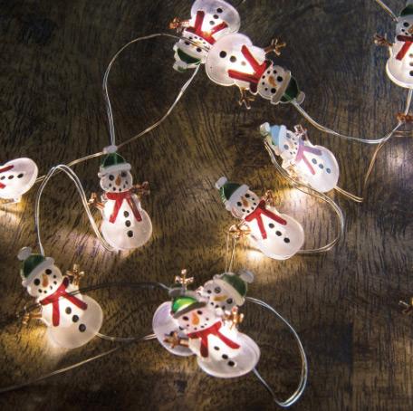 29319 Snowman Micro String Lights T Jpg