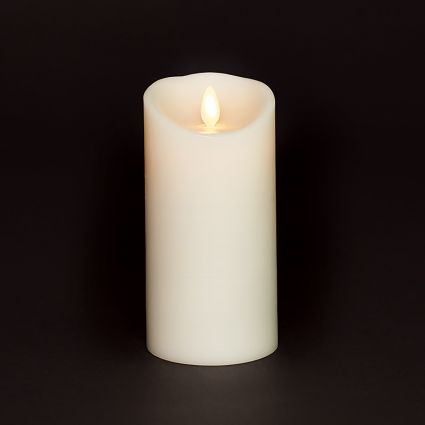 3 Inch Diameter Moving Flame Ivory 6 Inch Flameless Candle