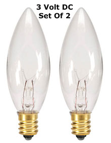 3 Volt Dc Replacement Bulb Clear Set Of 2