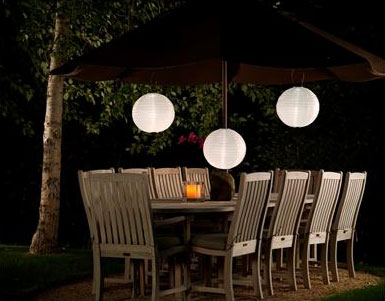14 Inch White Outdoor Solar Powered Lantern with Dual White LED