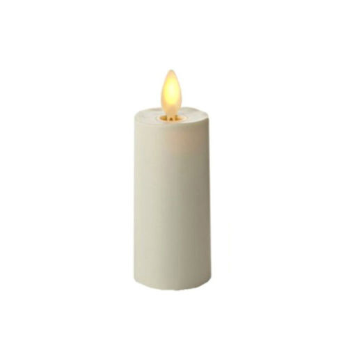 Moving Flame 3 Inch Ivory Votive Battery Operated Timer