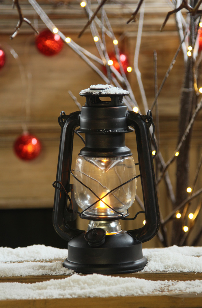 moving flame battery operated vintage style led lantern 95 inch