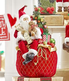 NWT Polar Bear Fleece Knit Stuffed Christmas Tree Ornament