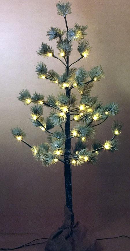 4 Foot Snowy Pine Tree 56 Lights Buy Now