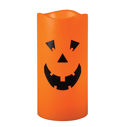 Large Halloween Jack O Lantern Flameless Outdoor Candle 6