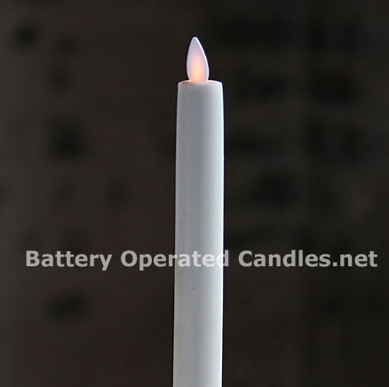 6 Inch Ivory Moving Flame Battery Operated Taper Candle