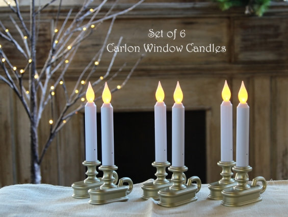 low priced 0a7d8 9f463 Discount 6 Pack Battery Operated Window Sil Candle Pewter - Flicker And  Steady On