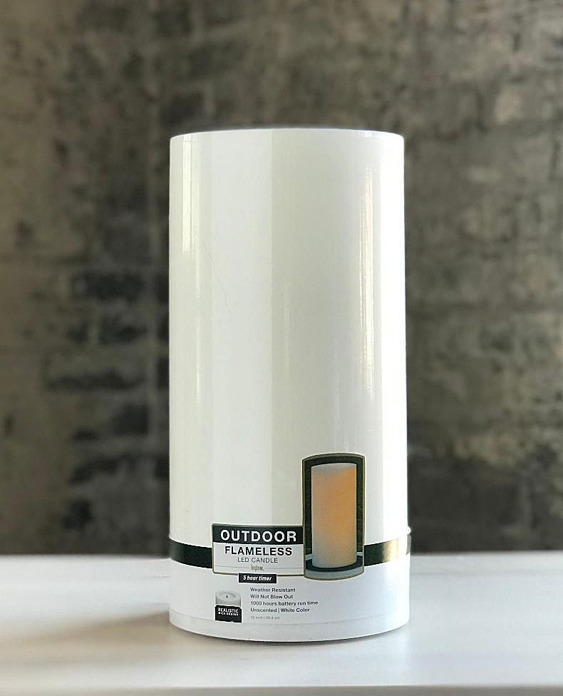 Outdoor Candle Impressions White, Outdoor Flameless Candles With Remote