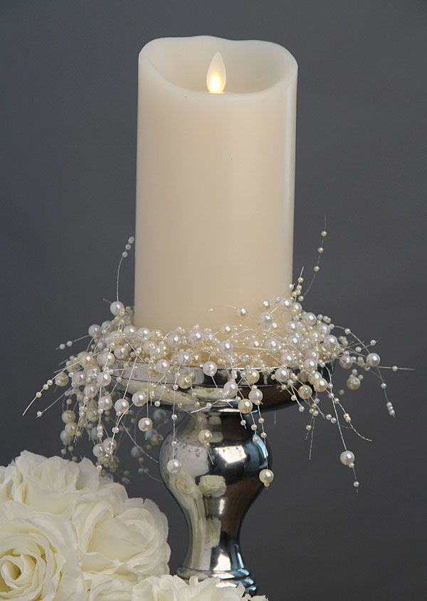 Flame Ivory Candle Battery Operated 3.5 x 7 Timer - Remote Ready