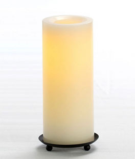 4 Inch Round Unscented Candle Impressions Cream Battery