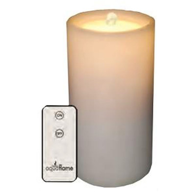Outdoor Aquaflame White Resin Fountain Candle Remote