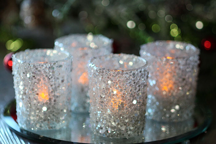 Silver Sequins Votive Holders 2 5 Inch Set Of 4 Buy Now