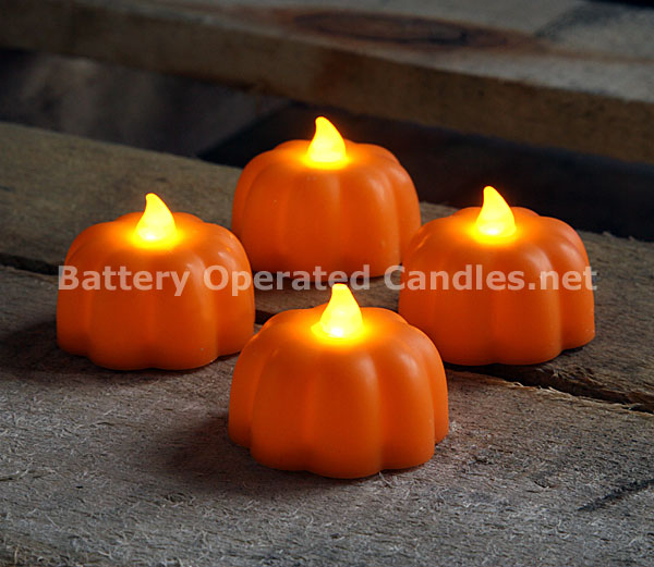 Battery Operated Candle Impressions Pumpkin Led Tealights