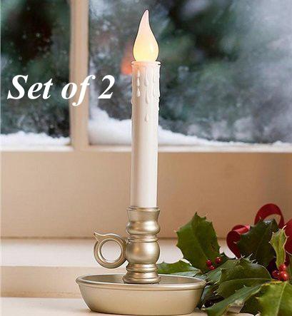 Flameless Window Candles Warm White Led
