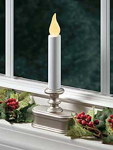 battery operated window candle pewter flicker mode buy now. Black Bedroom Furniture Sets. Home Design Ideas