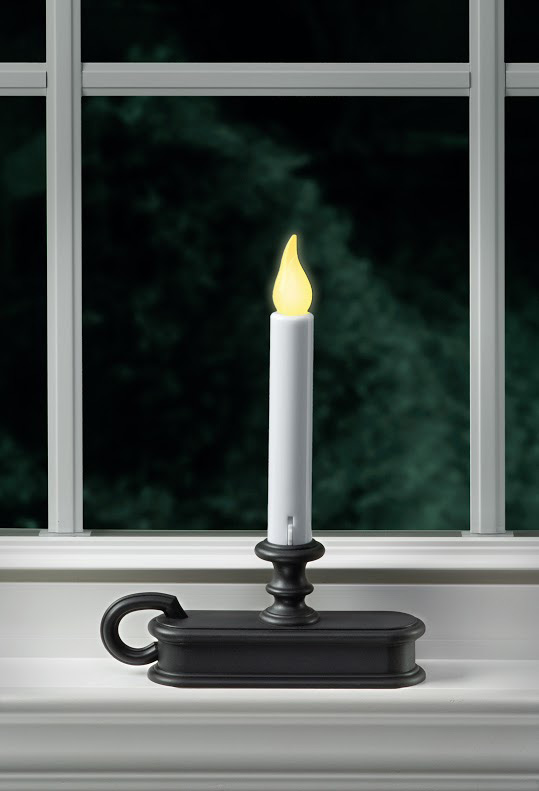 Traditional Battery Operated Window Candle Aged Bronze Dual Mode