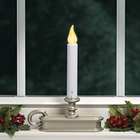 Battery Operated Window Candle Pewter Flicker Mode Only Buy Now