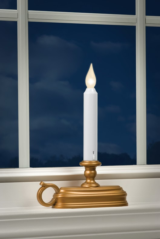 Warm White Antique Gold Traditional Battery Operated Window Candle Buy Now