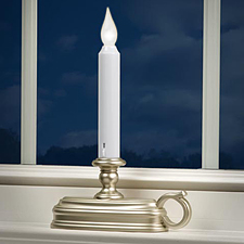 Warm White Pewter Traditional Battery Window Candle Buy Now