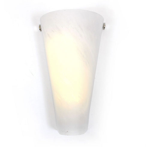 Battery powered wall sconce frosted marble conical shade indoor outdoor - Battery operated indoor wall sconces ...