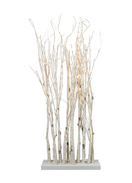 Lighted Birch Clump Branch On Stand 47 Inch With 90