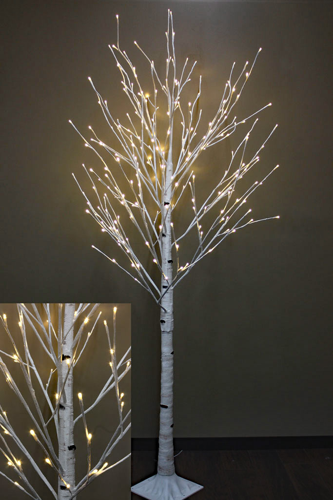 8 Foot White Birch Tree 240 Warm White Led S From The