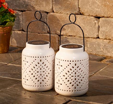 Famous Ceramic Solar Lanterns Set of 2 - Buy Now VO31