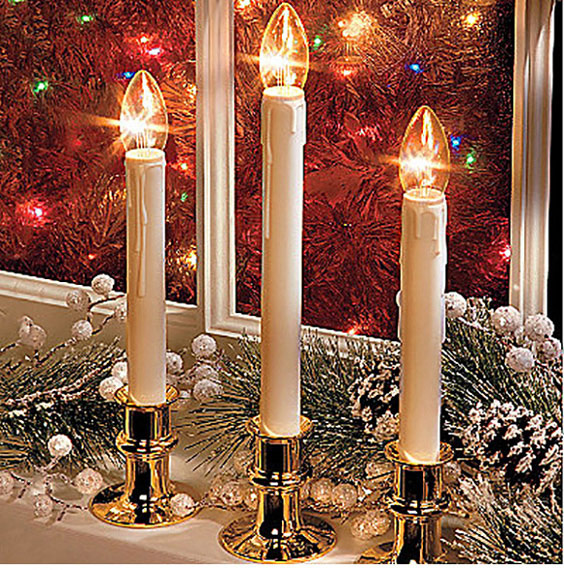 Bright Battery Operated Window Candles