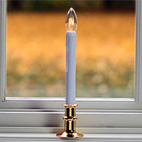 Gold Amp Pewter Window Candles Battery Operated Candles