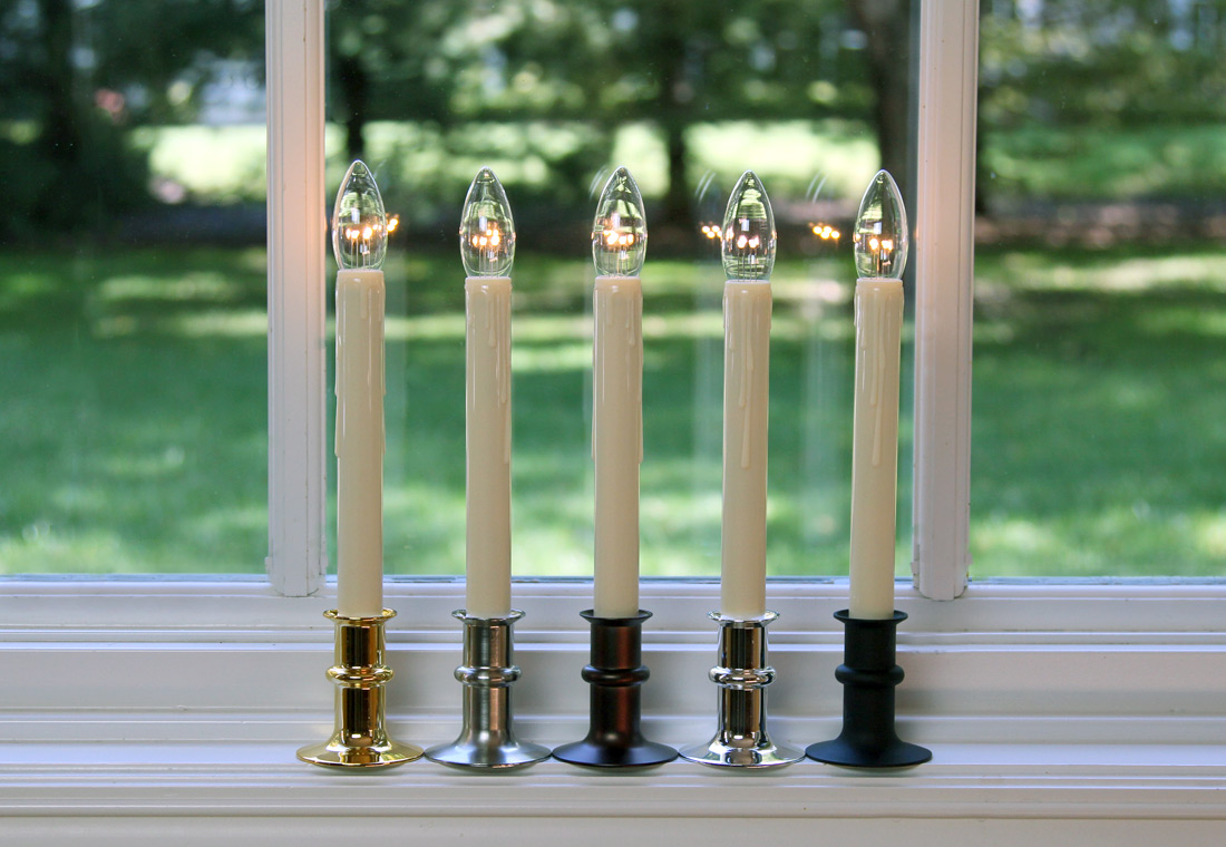 battery operated window candles with timer taper ultra bright adjustable led cordless window candle dual sided bulb timer matte black finish