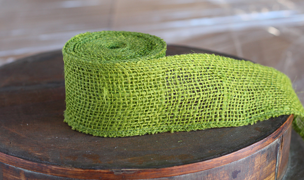 Apple Green Burlap Ribbon 2 5 Inch X 10 Yards High