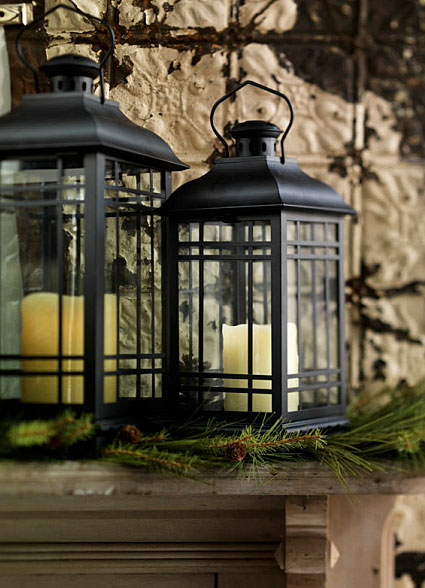 Set Of 3 Rubbed Oil Bronze Candle Lanterns 14 17 And 20