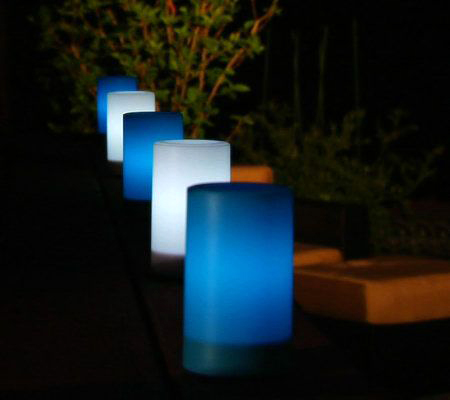 Outdoor Blue Candle Impressions Flameless Candle 3 X 5