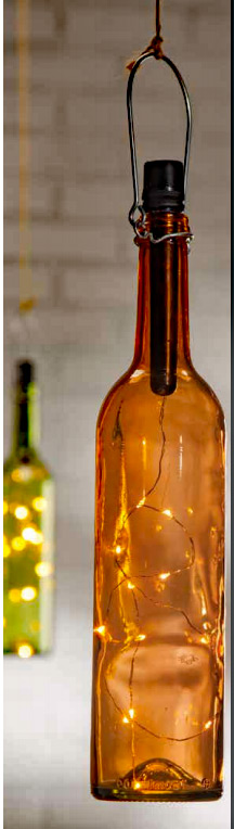 Wine Bottle String Light Battery Operated 12 Warm White
