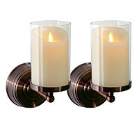 Battery Operated Candles: Wall Sconces