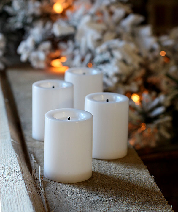 4 Pack 1 75 Inch White Economy Flameless Votive Candle