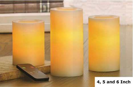 Candle Impressions Remote Control Candles 4 5 6 Inch With