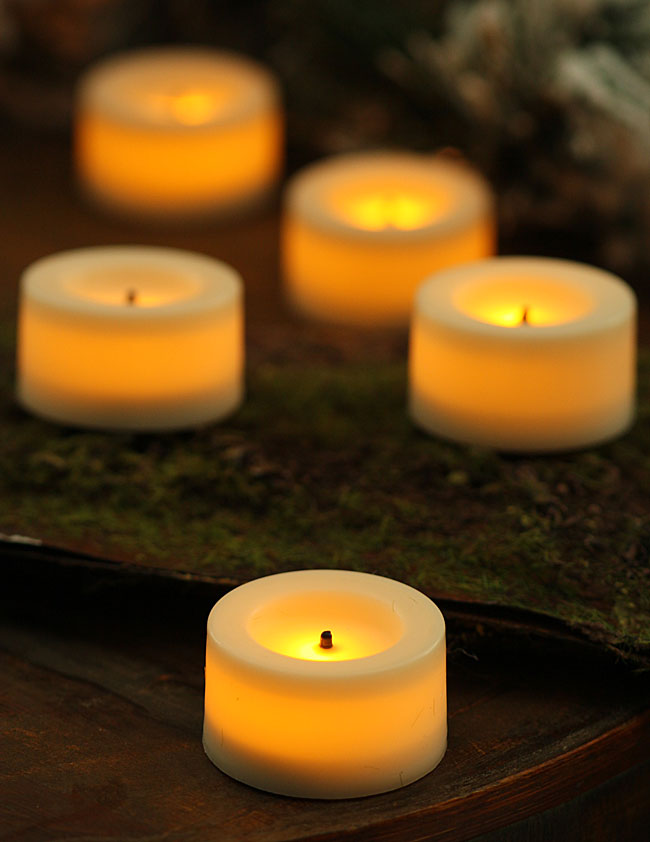 9 pack 75 inch round cream candle impressions flameless tea light buy now. Black Bedroom Furniture Sets. Home Design Ideas
