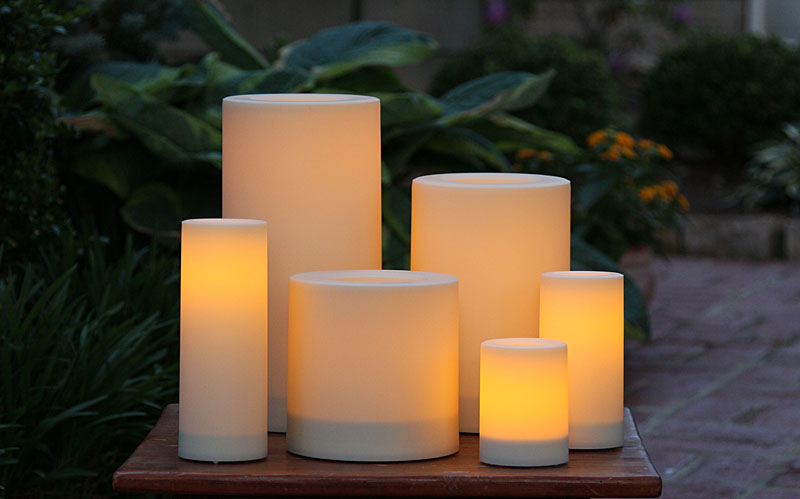 Set Of 6 Candle Impressions Outdoor Flameless Candles