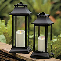 Outdoor Patio Candles Solar Lanterns Decor Battery Operated