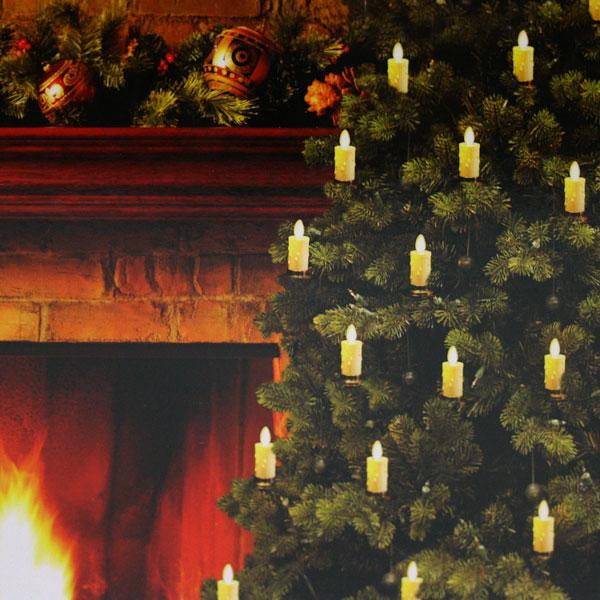Luminara Christmas Tree Candles - Set of 5 Candles - 6 Foot Length ...